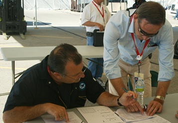 Preparing for a flight at the World Games in 2010